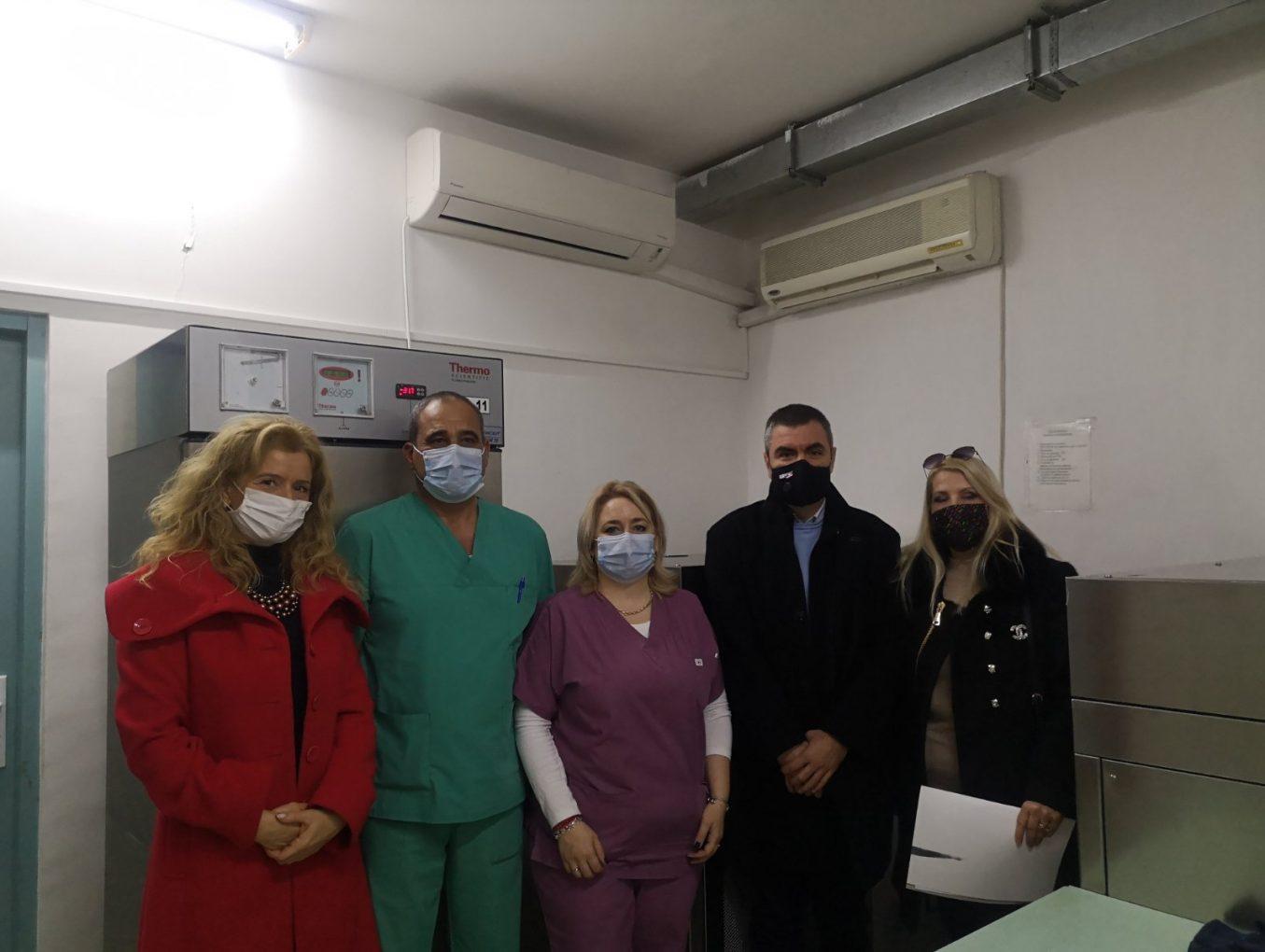 Пристигна шоковият фризер за Кръвния център в Пловдив